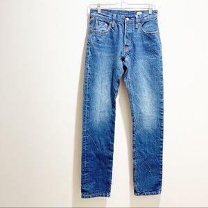 LEVIS 501 Cone Denim Button Skinny Selvedge Jeans
